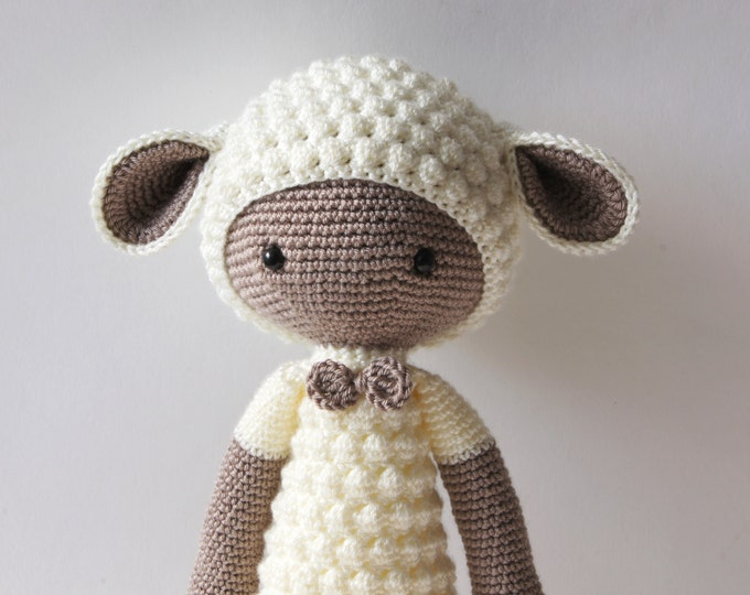 Crochet Toy Doll Animal Lamb Sheep Amigurumi Lalylala Doll Handmade
