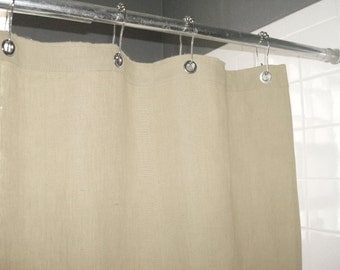 natural ecru shower curtain made in usa
