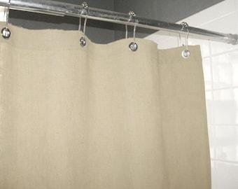 Natural (Ecru) Shower Curtain Made in USA