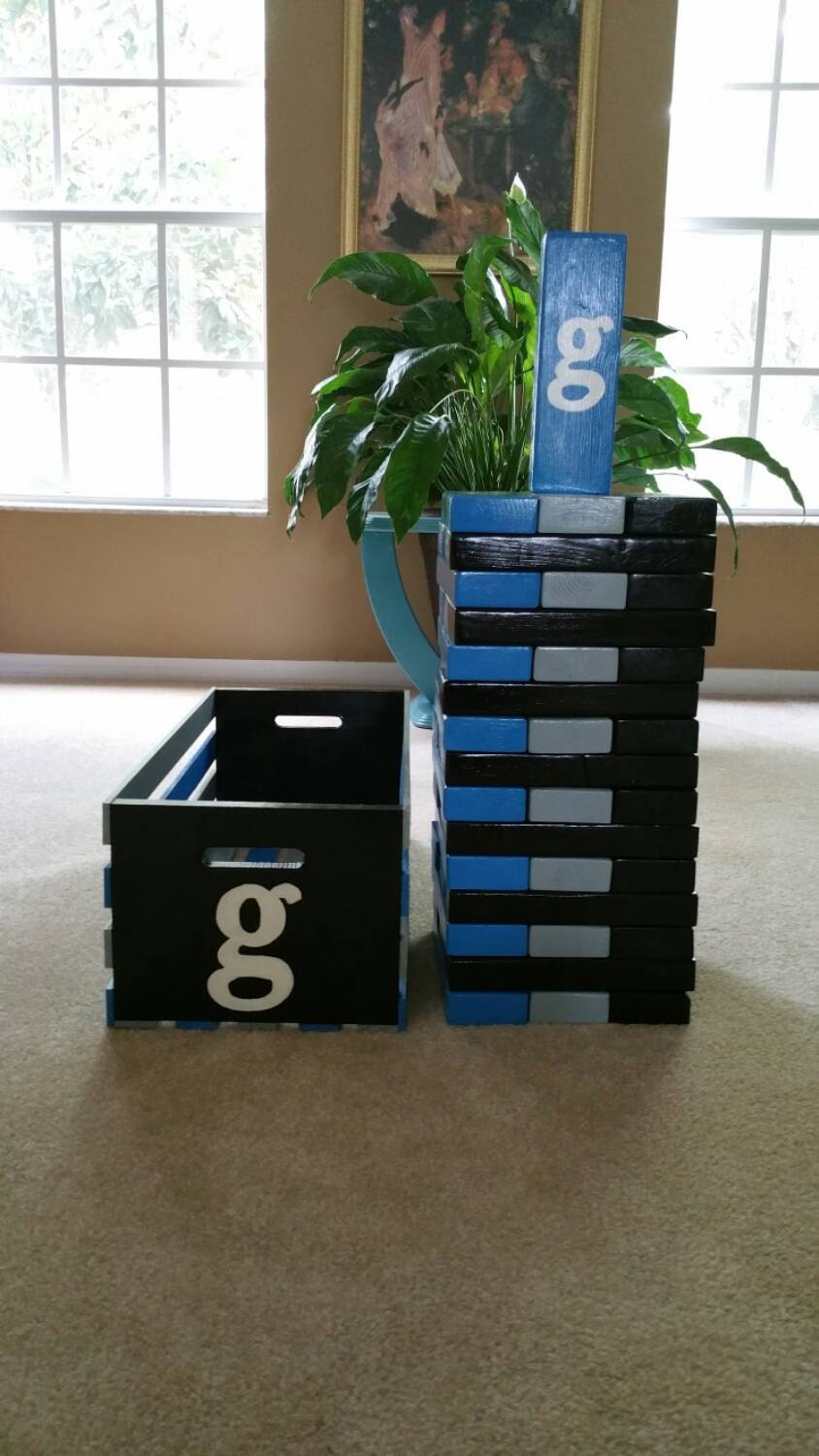 giant life size jenga with stenciling giant by notableworks. Black Bedroom Furniture Sets. Home Design Ideas