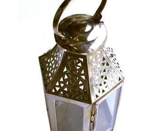 Hand pierced Moroccan table lantern - Medium