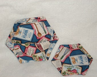 Blue Seed Packet Coasters