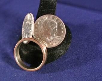 Susan B. Anthony Dollar Coin Ring