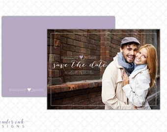 Custom Save the Date - Wedding Date Card