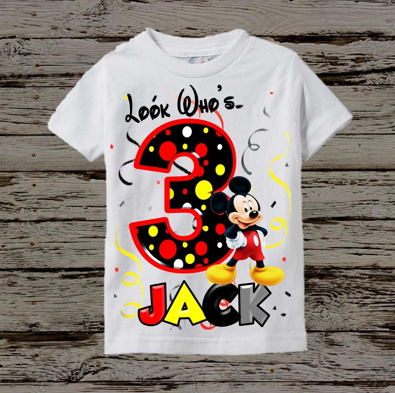 mickey mouse birthday shirt mickey birthday shirt. Black Bedroom Furniture Sets. Home Design Ideas