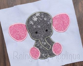 Elephant Applique, Elephant Design, Elephant Embroidery, Cute Elephant Applique, Jungle Animal Applique