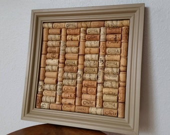 Wine Cork Board ~ Beautiful Handcrafted Wine Cork Board!
