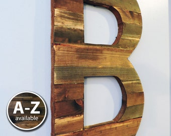 Large Wood Letters, Rustic Letter Cutout, Custom Wooden Wall Decor, Rustic Large wooden Letter,Wood Sign, Weathered Letter Art, Big Letters