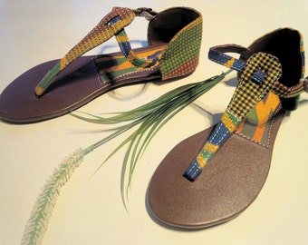 Ohemaa Closed Ankle Ankara Thong Sandals