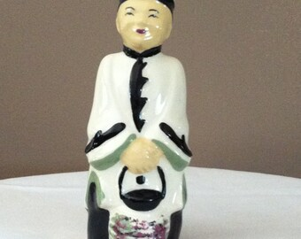 Vintage Asian Man Figurine/Planter by SBM California