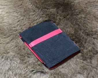 Kangaroo Leather Magic Wallet 2x Card Slots Pink