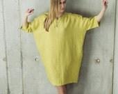 Linen Dress Motumo 14S8 - Loose linen dress with pockets