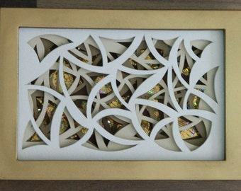3D Paper Sculpture Arcs Chaos Brown
