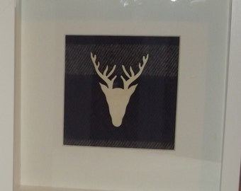 Framed Stag head