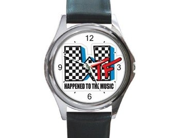 What Happened To Music   Round Metal Watch