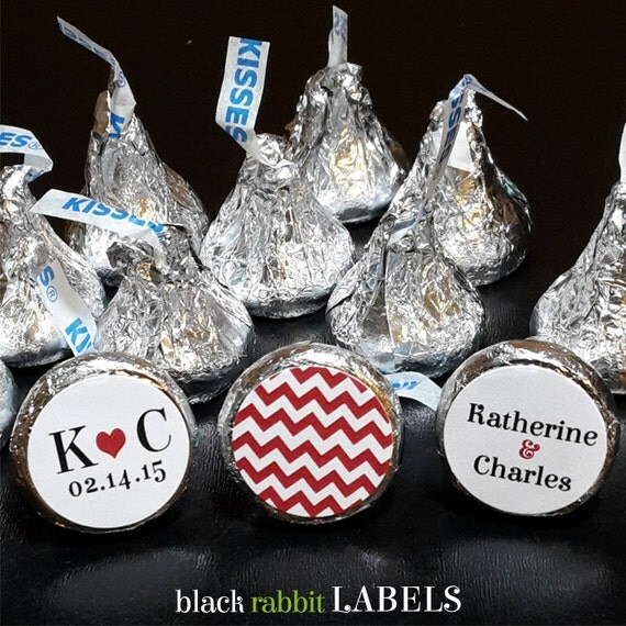 108 hershey kissr stickers wedding favors shower favors for Stickers for wedding favors