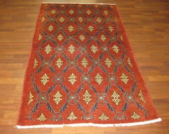 Vintage Turkish Floral design Rug-4239