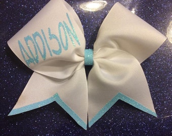 Glitter name bow