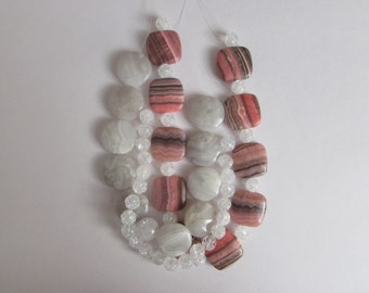 Multi Strand, Shell & Agate Necklace