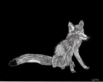 Original Fox Scratch Art