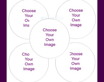 """5 Choose Your Own Images - Stickers - """"New"""""""