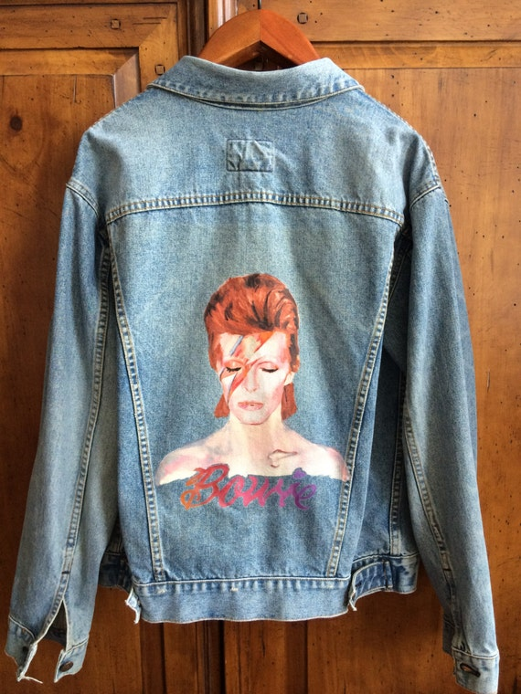 Handpainted David Bowie Jacket