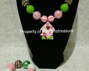 Little Birdie Necklace & Bracelet Set