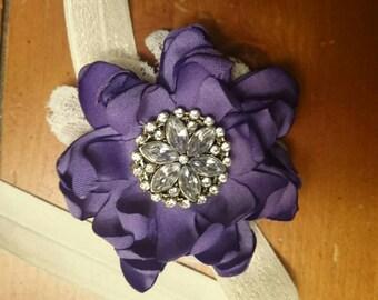 Satin purple vintage flower
