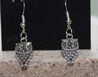 Full owl dangle earrings