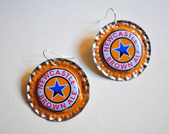 Newcastle Brown Ale Earrings