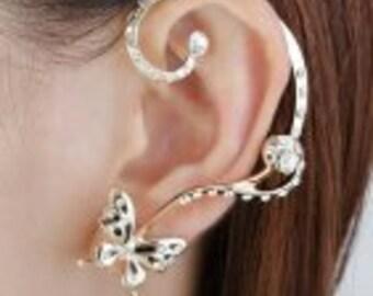 Elegant Butterfly Earring Cuff
