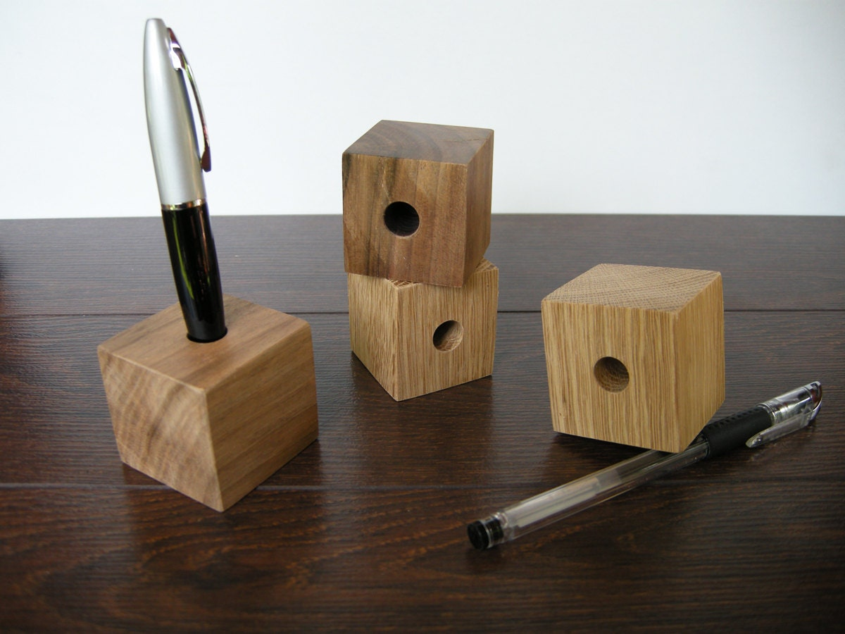 Pen Holder Wood Desk Organizer Wood Pen Holder