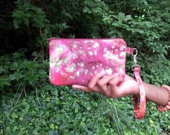 Batik Cosmetic pouch/Cellphone Wristlet
