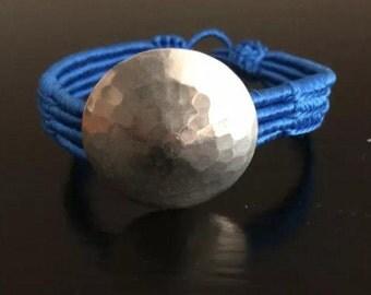 Moroccan 4 strand Blue Sabra bracelet