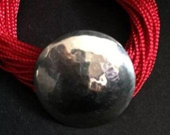 Moroccan red multi strand Sabra bracelet