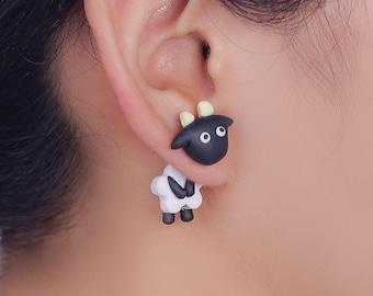 Cute animal sheep earrings