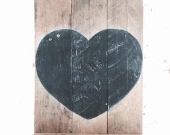 Reclaimed pallet wood chalkboard