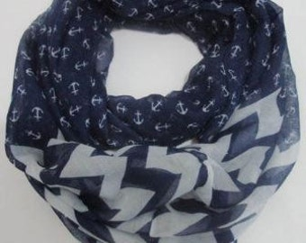 Scarf with Anchor Print