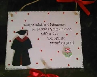Personalised Graduation Gift Plaque