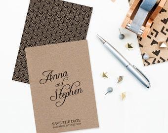 Gatsby / Art Deco Wedding Save The Date