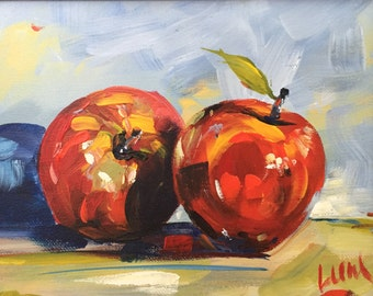 Two Apples Acrylic Painting