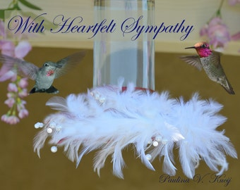 Sympathy Greeting Card - Anna's Hummingbirds