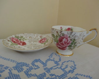 Beautiful vintage Bowbell duo cup and saucer