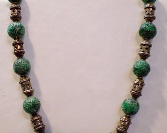 Carved Bead Necklace