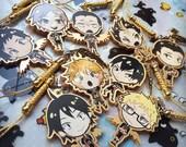 Haikyuu!! gold acrylic charms