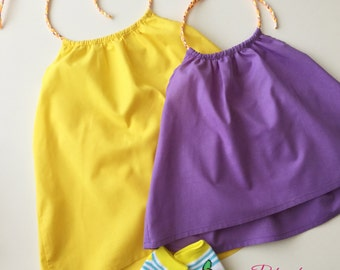Sleeveless Summer Dress tied in the neck for kids