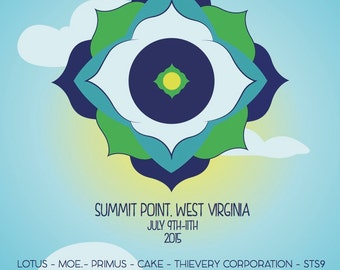 All Good Music Festival 2015 poster (11x17) Lotus STS9 Moe Primus