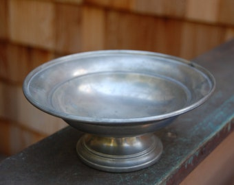 Small Pewter pedestal bowl
