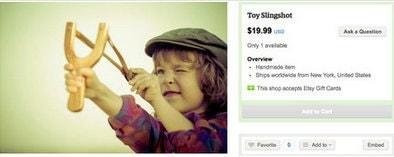 Toy slingshot