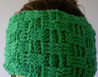 Hit the Slopes Crocheted Earwarmer Headband Handmade with Fleece Lining - Made to Order Choose Your Color